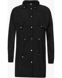 PREVU Salvatore High-neck Stretch-woven Hooded Parka Jacket - Black