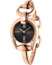 Gucci - Ya139507 Horsebit Rose-gold Watch - Lyst