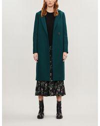 Ted Baker Chelsyy Wool Coat - Green