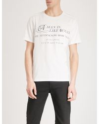 The Soloist Man Is Like Sugar Cotton-jersey T-shirt - White
