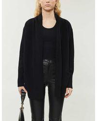 Zadig & Voltaire Vany Punk Embellished Cashmere-blend Cardigan - Black
