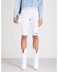 Off-White c/o Virgil Abloh - Logo-print Stretch Cycling Shorts - Lyst