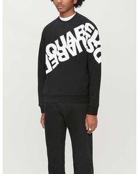 DSquared² Logo-print Cotton-jersey Sweatshirt - Black