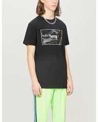 Trapstar Graphic-print Cotton-jersey T-shirt - Black