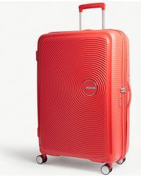 American Tourister Soundbox Expandable Four-wheel Suitcase 77cm - Red