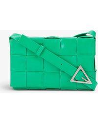 Bottega Veneta Cassette Intrecciato-woven Leather Shoulder Bag - Green