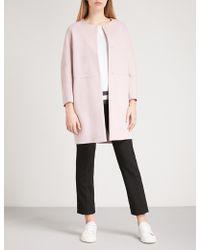 Max Mara - Casa Brushed Virgin Wool Coat - Lyst