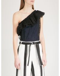 Maje - Lowers One-shoulder Tulle Body - Lyst