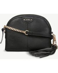5db4bf88ec4 Lyst - ALDO Stout Faux-leather Snake Embossed Cross-body Bag in Black