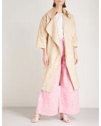 Paper London - Assasin Linen-blend Coat - Lyst