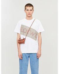 Loewe Floral-print Cotton-jersey T-shirt - White