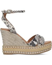 KG by Kurt Geiger - Amelia Snake Print Leather Sandals - Lyst