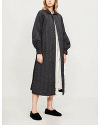 Renli Su Padded Cotton-blend Coat - Black