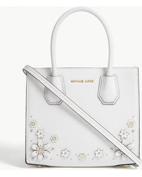 MICHAEL Michael Kors - Mercer Floral-embellished Leather Tote - Lyst