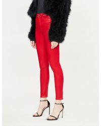 GOOD AMERICAN - Good Legs Waxed Coated High-rise Skinny Jeans - Lyst
