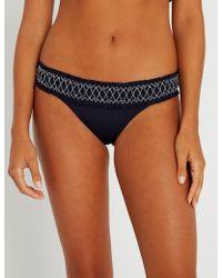 Heidi Klein - Anguilla smocked hipster bikini bottoms - Lyst