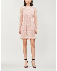 Needle & Thread - Reflection Ditsy Fit-and-flare Tulle Dress - Lyst
