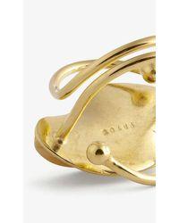 Rokus Fula 22ct Yellow Gold-plated Brass Ring - Metallic