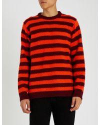 DIESEL - K-piling Stripe-pattern Wool Jumper - Lyst