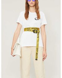 Off-White c/o Virgil Abloh Markers Classic-fit Cotton-jersey T-shirt - White