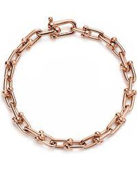 Tiffany & Co. - Tiffany City Hardwear 18k Rose-gold Link Bracelet - Lyst