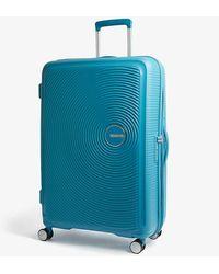 American Tourister Soundbox Expandable Four-wheel Suitcase 77cm - Blue