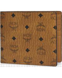 MCM Visetos Canvas Billfold Wallet - Multicolour