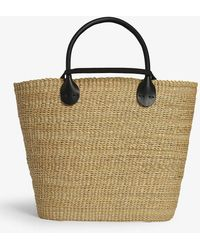 Muuñ Bony Straw Bag - Black