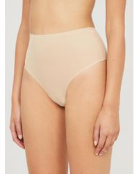 Chantelle Soft Stretch High-rise Stretch-jersey Thong - Natural