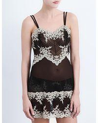 Wacoal Embrace Lace Chemise Lingerie - Black