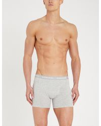 Björn Borg - Pack Of Three Perfect-fit Cotton-jersey Boxer Briefs - Lyst