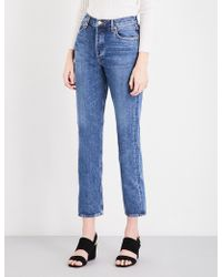 Agolde - Riley Straight Cropped Mid-rise Jeans - Lyst