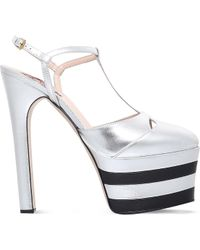 Gucci - Angel 160 Leather Heeled Platforms - Lyst