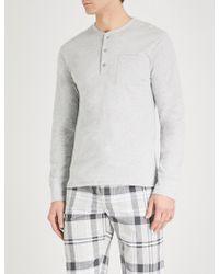 The White Company - Patch-pocket Cotton-jersey Pyjama Top - Lyst