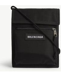 Balenciaga Explorer Nylon Pouch - Black