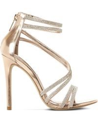 Steve Madden - Sweetest Embellished Heeled Sandals - Lyst