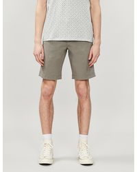 Ted Baker Selshor Stretch-cotton Chino Shorts - Green