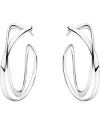 Georg Jensen - Infinity Sterling Silver Earrings - Lyst