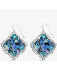 Kendra Scott - Kirsten 14ct Rhodium-plated And Abalone Shell Drop Earrings - Lyst