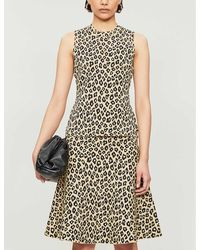 Theory Gloss Leopard-print Stretch-jersey Vest - Black