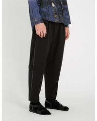 Isabel Benenato - Buckle-embellished Tailored-fit Straight Wool Trousers - Lyst