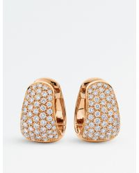 BUCHERER JEWELLERY - Classics 18ct Rose-gold Diamond Earrings - Lyst