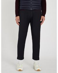 Corneliani - Cc Collection Regular-fit Tapered Cropped Stretch-wool Trousers - Lyst