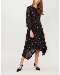 Claudie Pierlot - Raft Floral And Dot-embroidered Chiffon Dress - Lyst