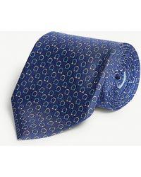 Ferragamo - Logo-print Silk Tie - Lyst