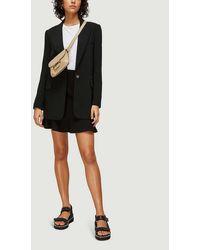 Whistles Flippy Stretch-jersey Mini Skirt - Black