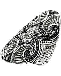 Thomas Sabo | Rebel At Heart Maori Sterling Silver Ring | Lyst