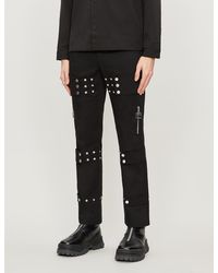 Pieces Uniques Multifit Straight Embellished Pants - Black