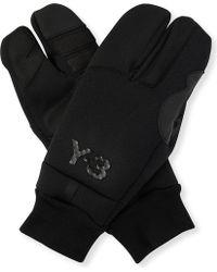 Y-3 - Logo-detail Wool-blend Gloves - Lyst