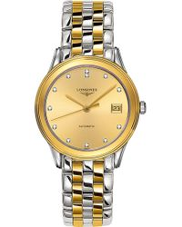 Longines - L4.774.3.37.7 La Grande Classique Flagship Gold And Steel Watch - Lyst